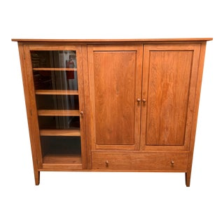 Traditional Solid Cherry Media Cabinet For Sale