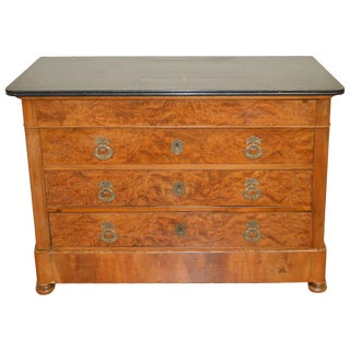 Louis Philippe Period Walnut Commode For Sale