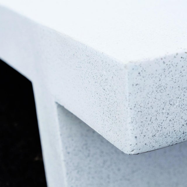 Not Yet Made - Made To Order Zachary A. Design White Finish Cast Resin 'Wavebreaker' Lounge Chair For Sale - Image 5 of 7