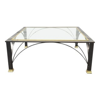 Modern Chrome Coffee Table by Design Institute of America For Sale