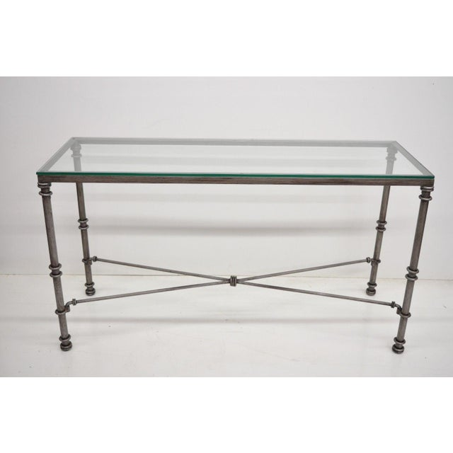 Pier 1 Medici Collection Pewter Iron Console Hall Sofa Table With