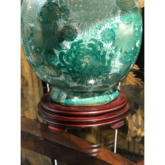 Chinoiserie Green Lamps - a Pair For Sale In Detroit - Image 6 of 7