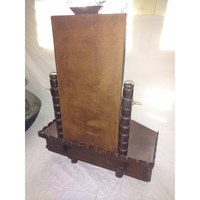 1930s British Colonial Teak Shaving Mirror For Sale - Image 10 of 12