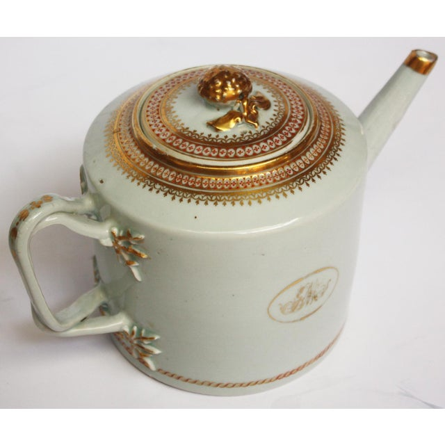 "Chinese Export Coffee / Tea Set, Monogrammed ""GM"" For Sale - Image 5 of 5"