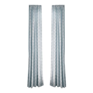"""Pepper Emma Sky 50"""" x 84"""" Curtains - 2 Panels For Sale"""