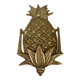 "Antiqued Brass Pineapple Door Knocker - 5-1/2"" For Sale"