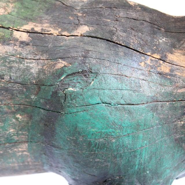 Antique Javanese Wooden Deer For Sale - Image 5 of 5