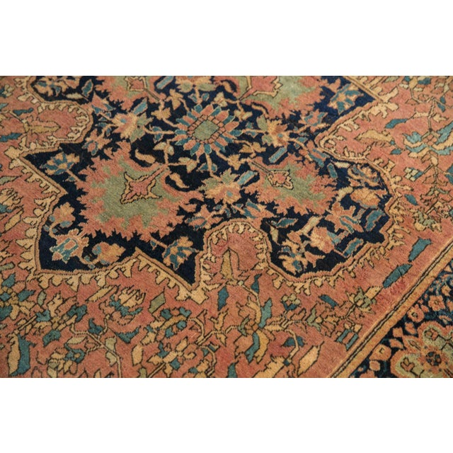 "Boho Chic Antique Farahan Sarouk Persian Rug - 3'10"" X 6'6"" For Sale - Image 3 of 13"