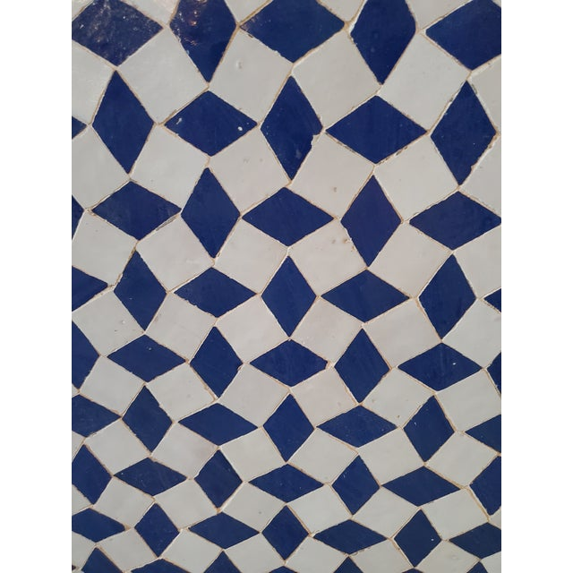 Moroccan Marrakech 2-Tone Moroccan Mosaic Fountain For Sale - Image 3 of 7