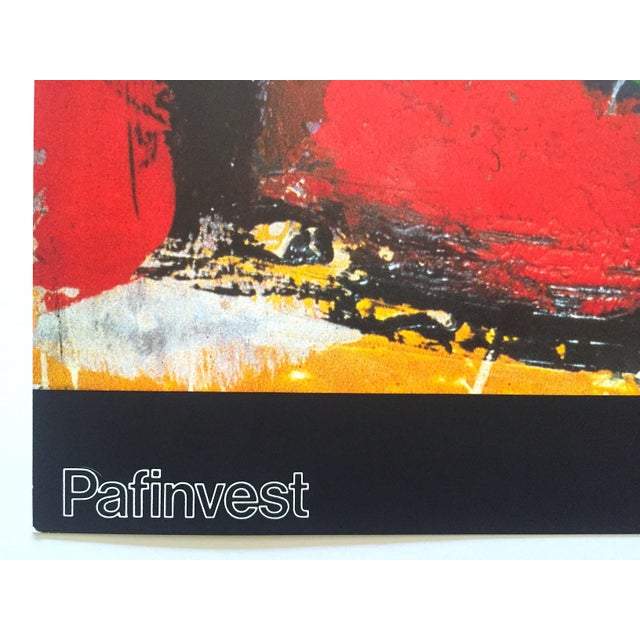 """Blue Franz Kline Rare Vintage 1987 Abstract Expressionist Lithograph Print """" Pafinvest Studio Marconi """" Italian Exhibition Poster For Sale - Image 8 of 13"""