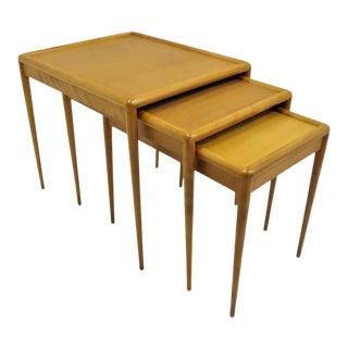 1950s T. H. Robsjohn-Gibbings Mid Century Modern Nesting Tables-Set of 3 For Sale