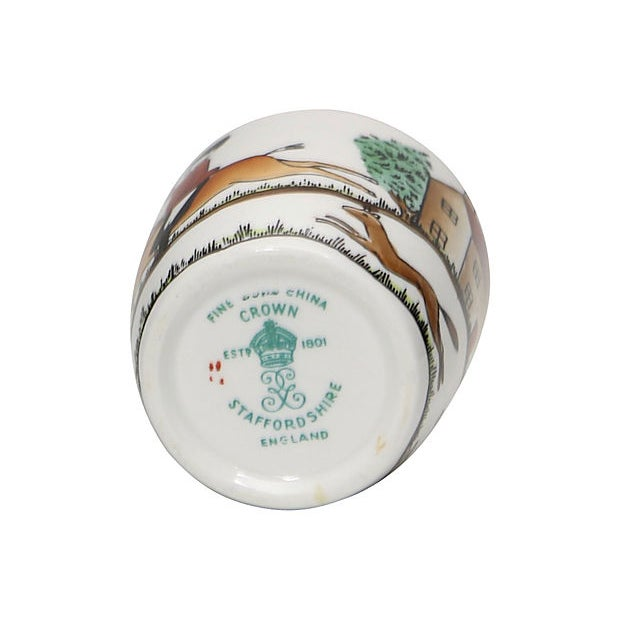 Cottage English Hunting Scene Shot Glass For Sale - Image 3 of 4