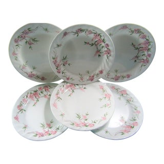 Corelle Pink Wisteria Plates - Set of 6 For Sale