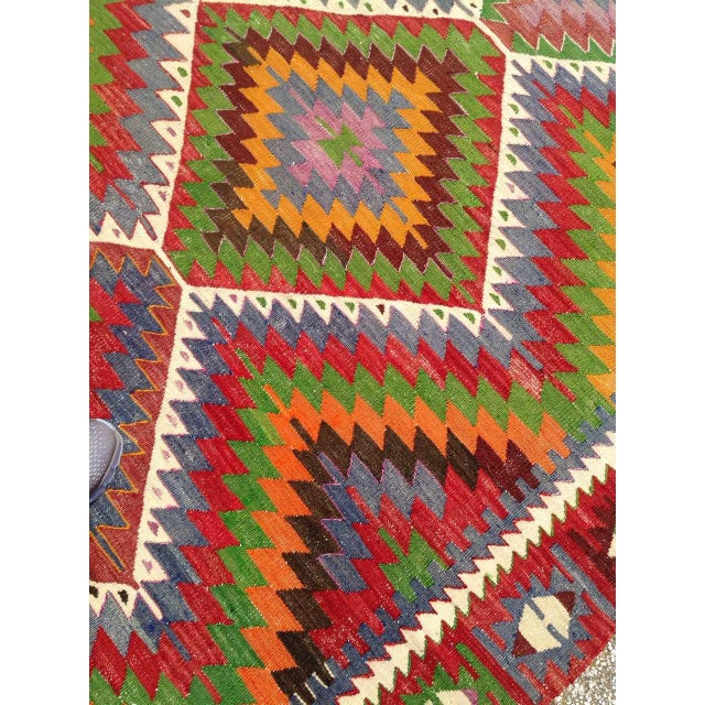 Vintage Turkish Kilim Rug - 5′7″ × 8′7″ For Sale In Raleigh - Image 6 of 9