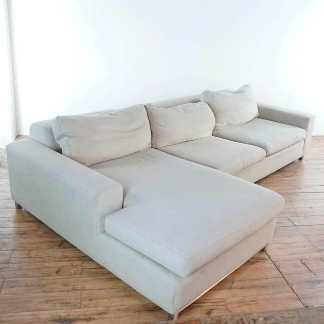 Room & Board Upholstered Sectional Sofa For Sale In San Francisco - Image 6 of 11