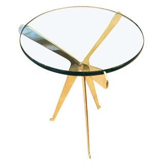 """Customizable """"Fiore"""" Brass Side Table Designed by Gaspare Asaro-Large Version"""