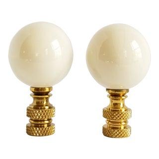 Vintage Ceramic Lamp Finials - a Pair For Sale