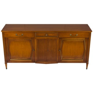 Mid-Century Modern Mahogany Credenza Buffet Sideboard For Sale