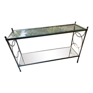 Drexel Heritage Glass Console For Sale