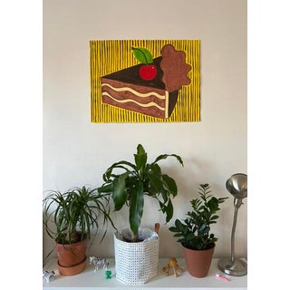 Contemporary Painting, a Piece of Cake With a Cherry on Top Preview