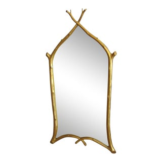 Boho Chic Carvers Guild Mirror For Sale