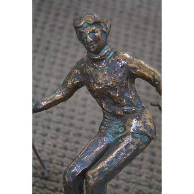 Curtis Jere Bronze Sculpture of Downhill Skier - Image 7 of 10