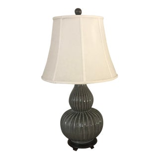 Traditional Mahogany Table Lamp For Sale