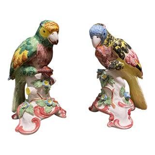Chelsea House Italian Ceramic Birds - A Pair For Sale