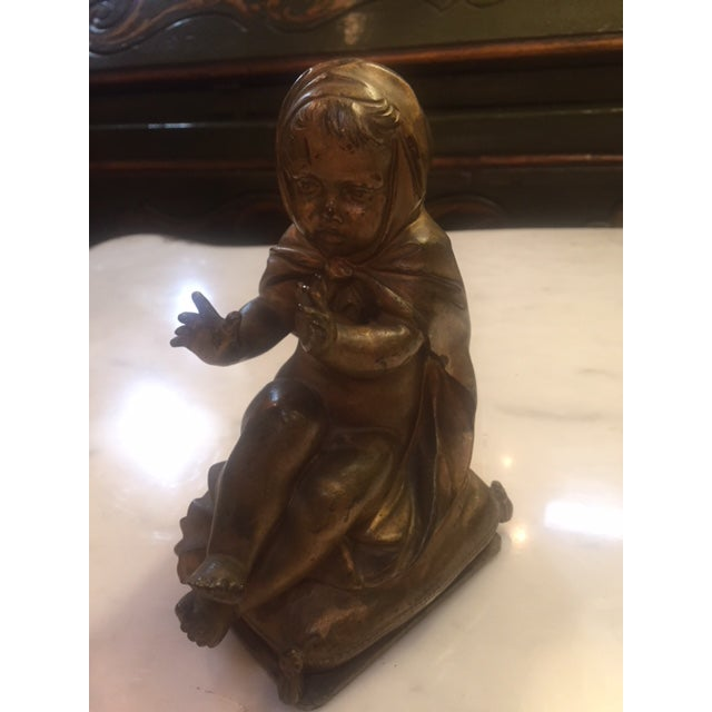 Late 19th Century Pair of Gold Bronze Statue For Sale - Image 5 of 9