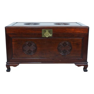 Vintage Chinese Rosewood Hope Chest/Coffee Table For Sale