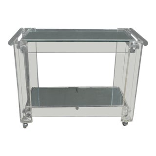 High Quality Lucite Bar Cart For Sale