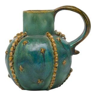"Final Markdown 1930s Art Deco Denby Pottery ""Emerald"" Pitcher"