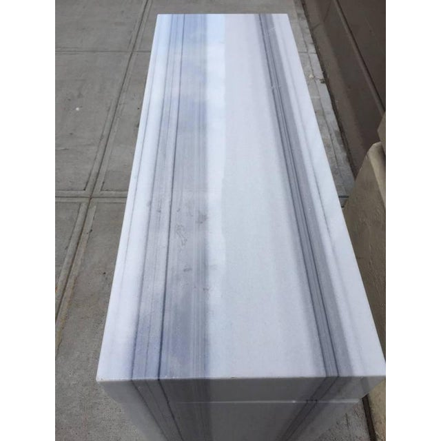 Carrara Marble Console / Fireplace Mantel For Sale In New York - Image 6 of 7
