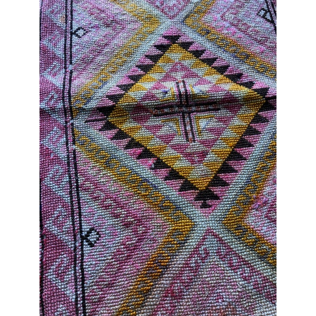 This beautiful Kilim features an Anatolian design from Turkey, made using only vegetable dye and soft natural wool. It is...