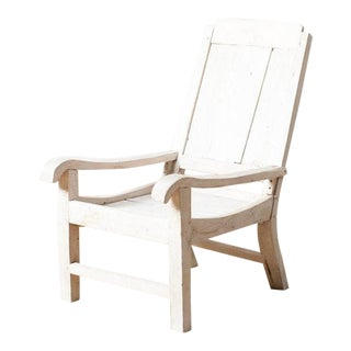 Contemporary Weathered Teak Chair For Sale