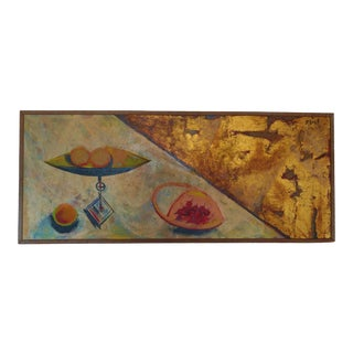 1957 Original Abstract Still Life with Cherries Oil Painting by Walter Meigs For Sale