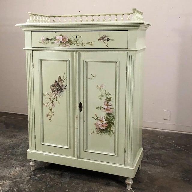 Belle Epoque Antique Belle Epoque Painted Cabinet For Sale - Image 3 of 13