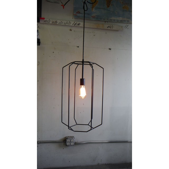 Contemporary Hand Made Vintage St. Elmo Pendant Light For Sale - Image 3 of 7
