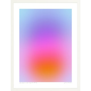 """""""Color Cloud 19: A New Thing Is on the Way"""" Contemporary Minimalist Print by Jessica Poundstone, Framed in White 30x40"""" For Sale"""