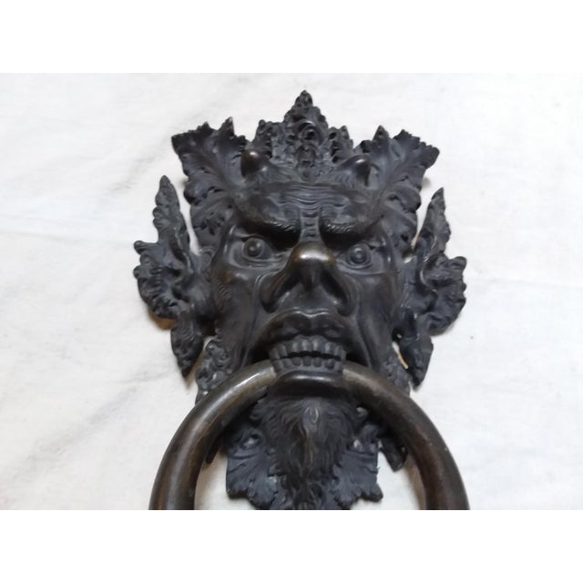 Bronze Mythical Creature Door Knocker For Sale - Image 4 of 6