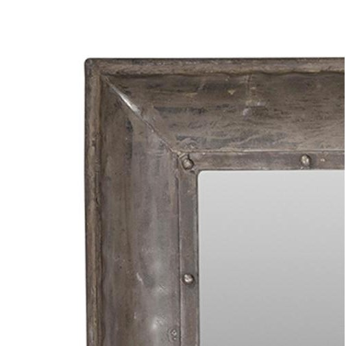 This industrial style iron mirror is great for your industrial chic interior. It's perfect for a bathroom, living room,...
