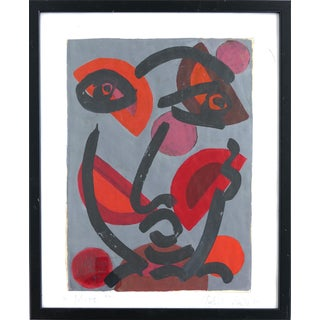 "Peter Keil Abstract Painting, ""Miro"", Paris, 1975 For Sale"