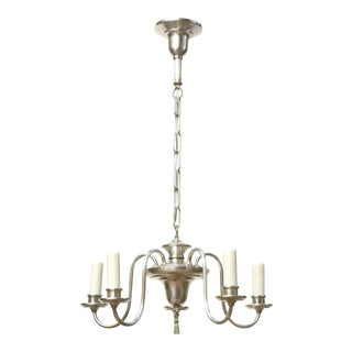 Petite American Silver Chandelier For Sale