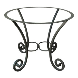 Spanish Wrought Iron Dining Table Pedestal Base Indoor or Outdoor For Sale