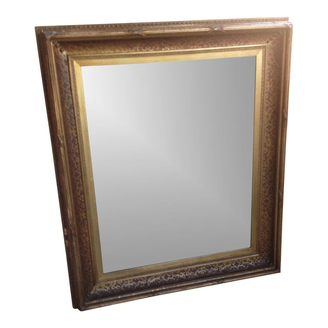 Antique Gilt-Wood Hand-Carved Mirror - Image 1 of 8