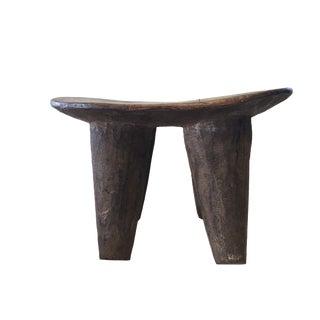 "African Senufo Wood Milk Stool I . Coast 12"" W For Sale"