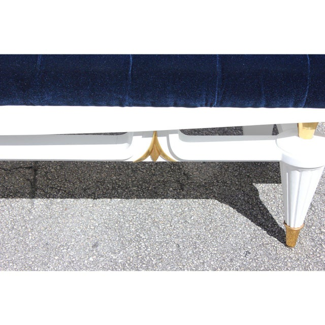 Metal 1940s Vintage French Art Deco Long Sitting Bench For Sale - Image 7 of 12