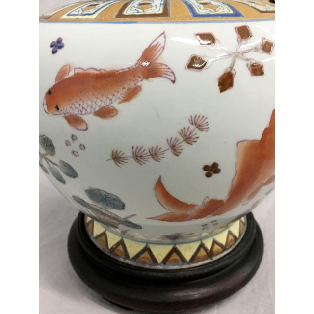 Gold Fish Design Table Lamp For Sale - Image 4 of 6