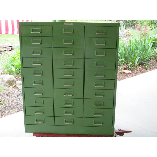 1950's Steelmaster Art Industrial Metal Steel Cabinet For Sale - Image 4 of 11