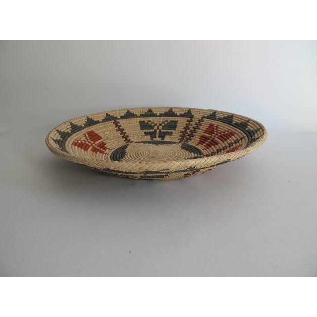 Native American Basket with Butterflies - Image 4 of 4